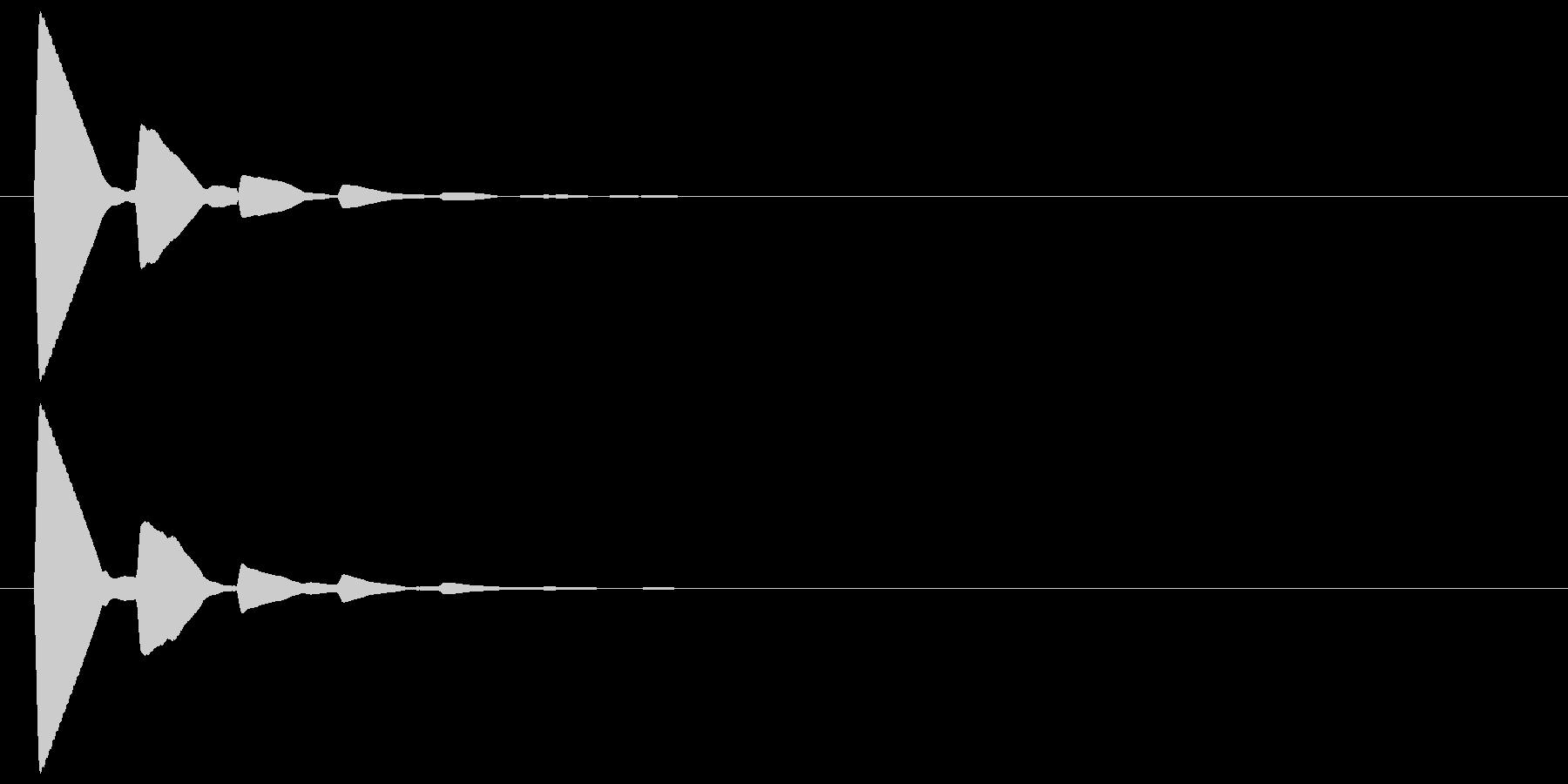 ピッ(カーソル、余韻有り) 01の未再生の波形