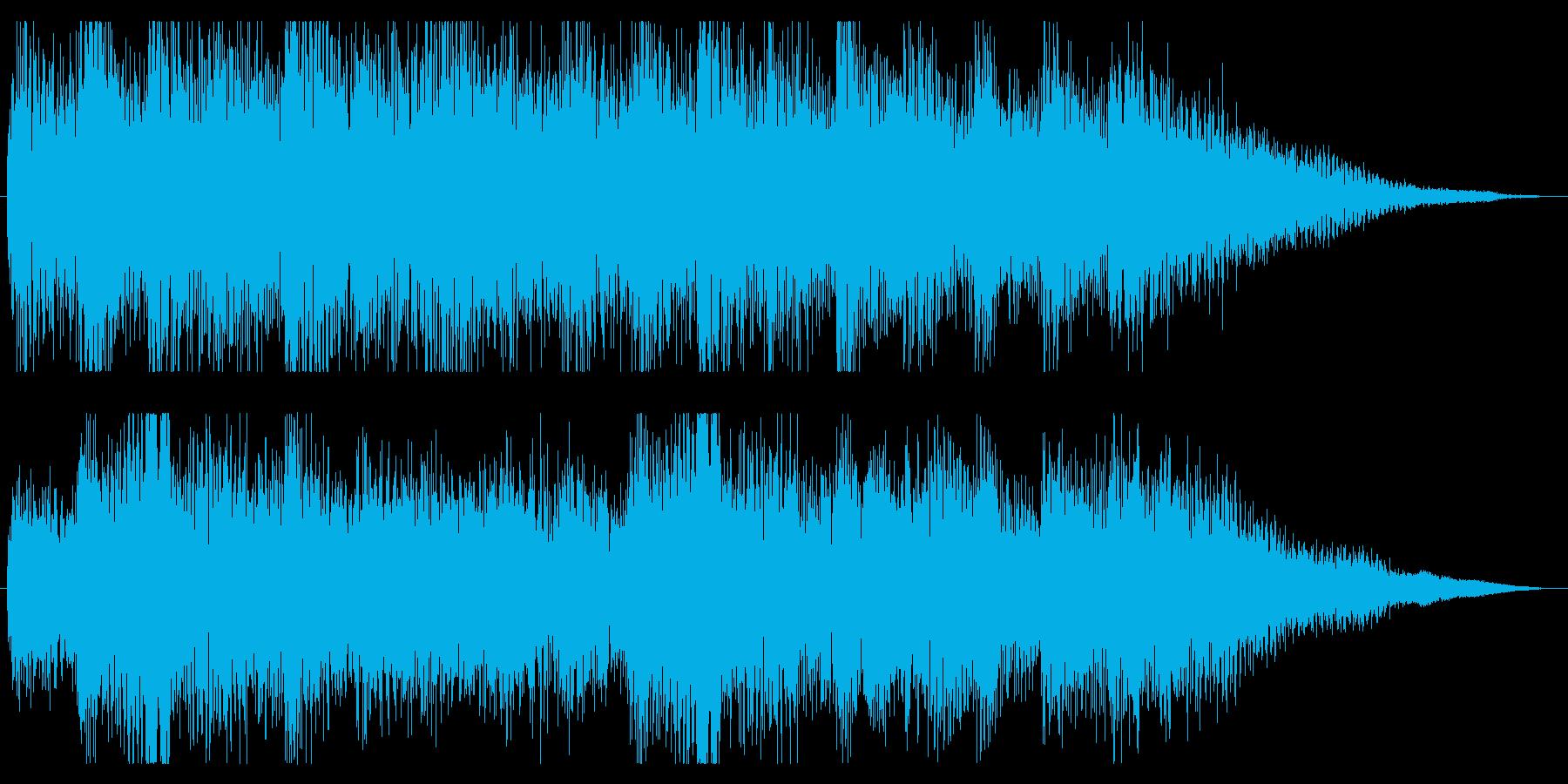 ミステリアスなピアノのジングル 場面転換の再生済みの波形