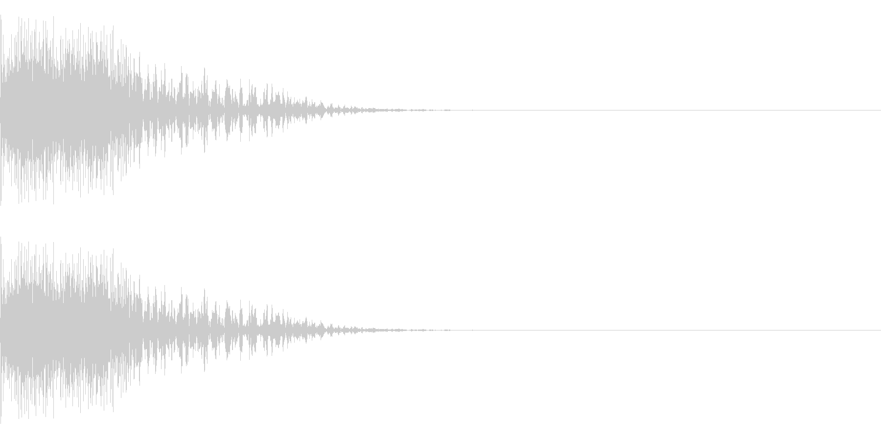 発射、ショック、ゲームオーバーの未再生の波形