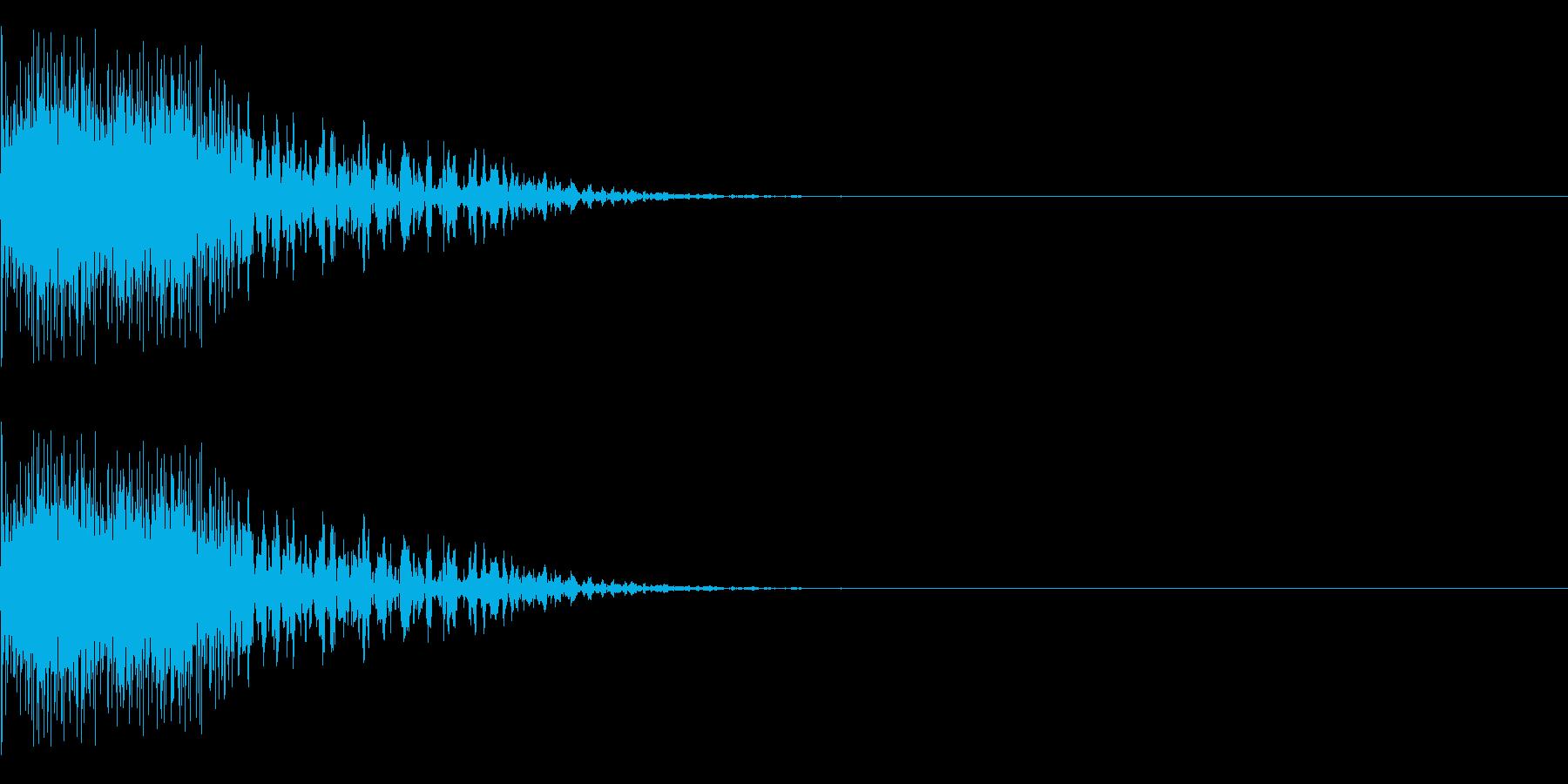 発射、ショック、ゲームオーバーの再生済みの波形