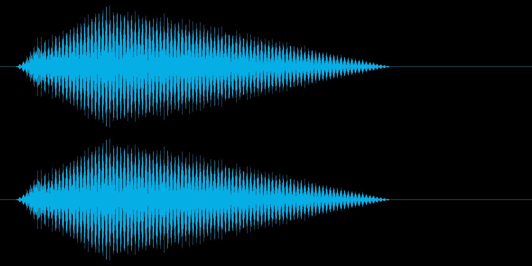 ワープっぽいイメージですの再生済みの波形
