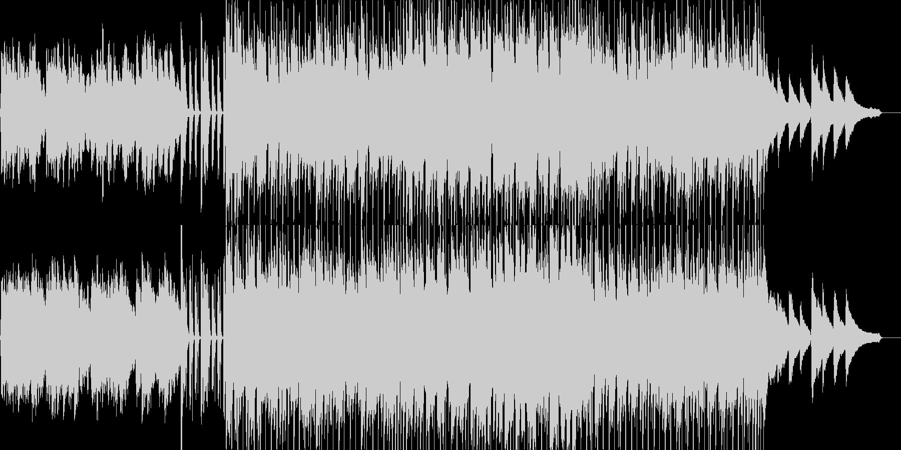 子供用の伸び伸びとした雰囲気のBGMの未再生の波形