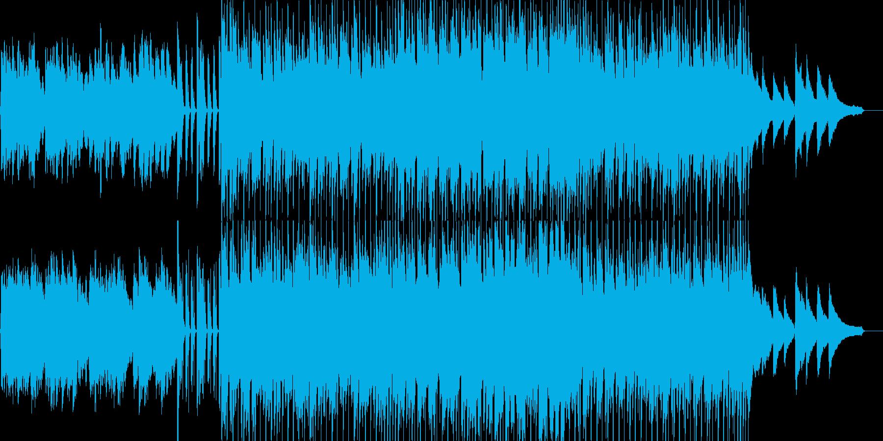子供用の伸び伸びとした雰囲気のBGMの再生済みの波形