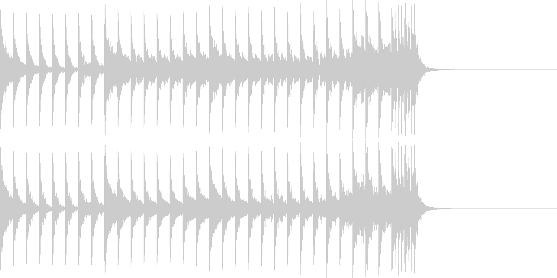 オープニング用)クイズ番組ドキュメンタリの未再生の波形