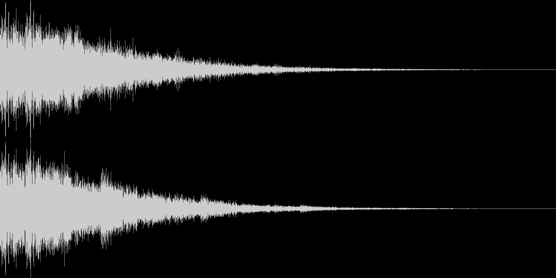 勢いのある決定音、スタート音の未再生の波形