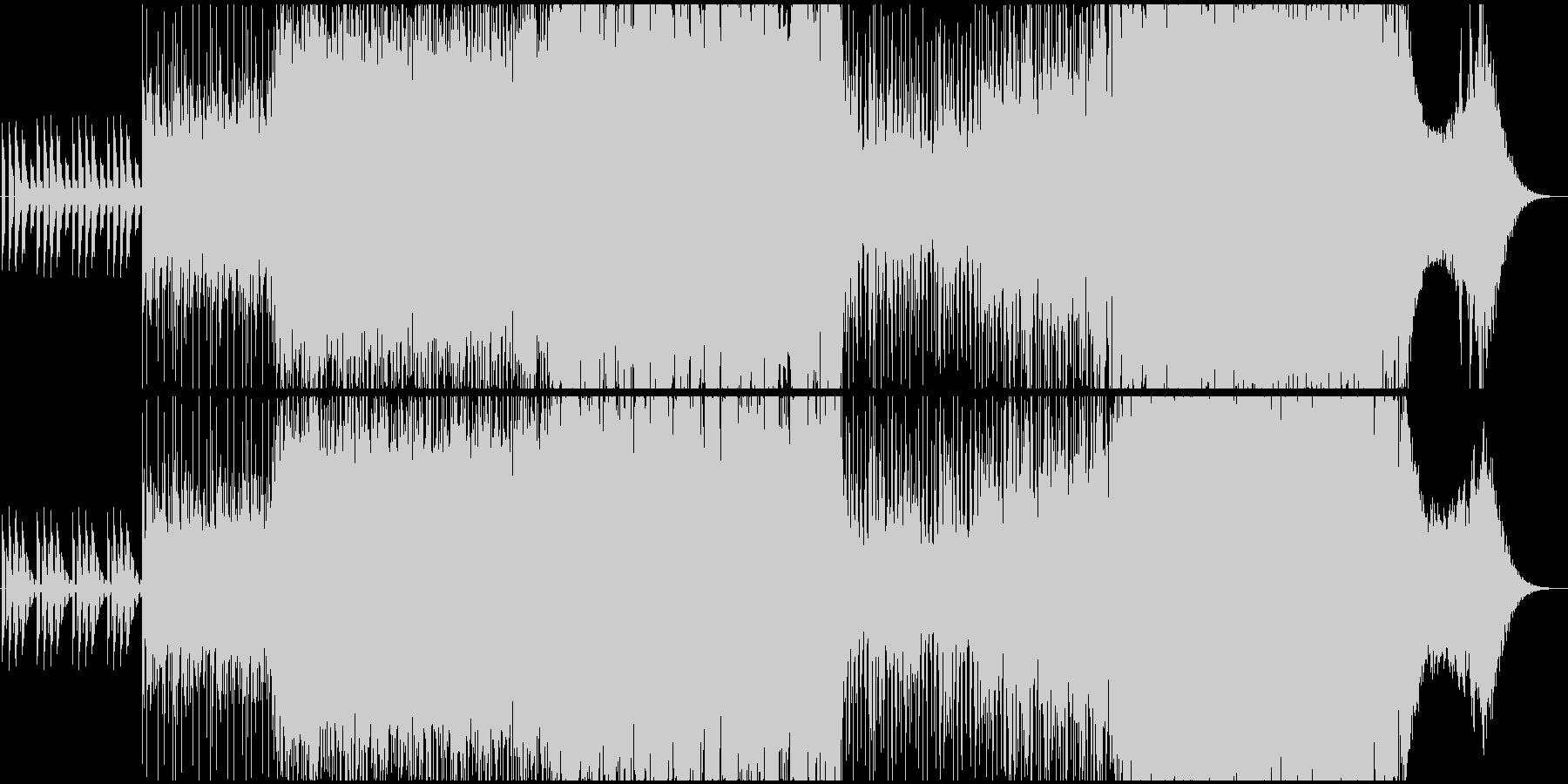 生演奏。ボーカルリバースのテクノロックの未再生の波形