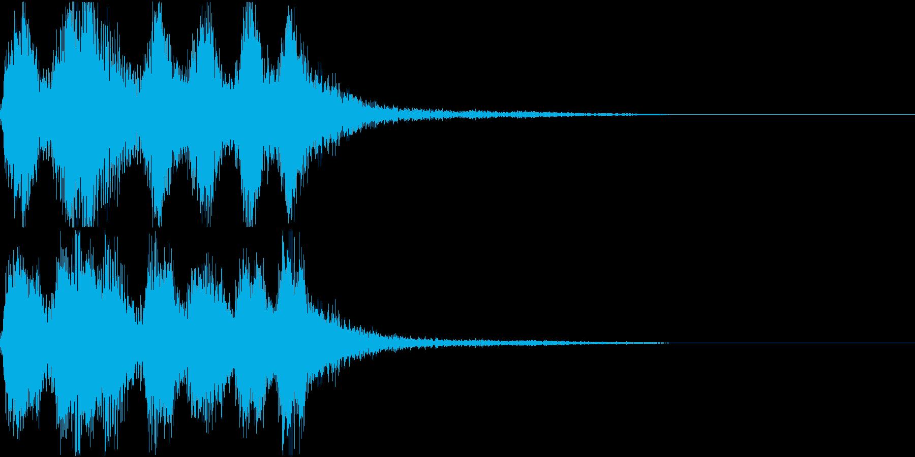 ラッパ ファンファーレ 定番 3 早いの再生済みの波形
