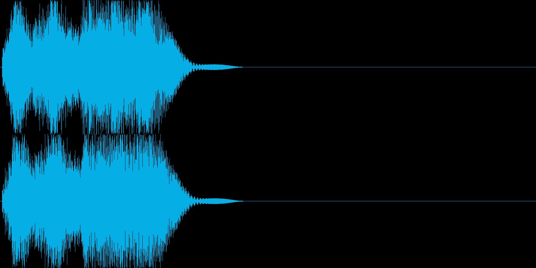 機械音01_シンセの再生済みの波形