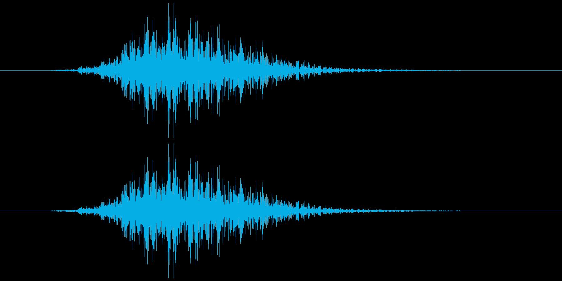 飛んでいく、横切る音3の再生済みの波形