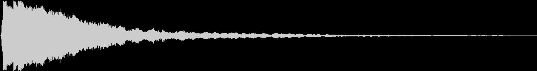 効果音。キュイーン音02(ひらめきの音)の未再生の波形