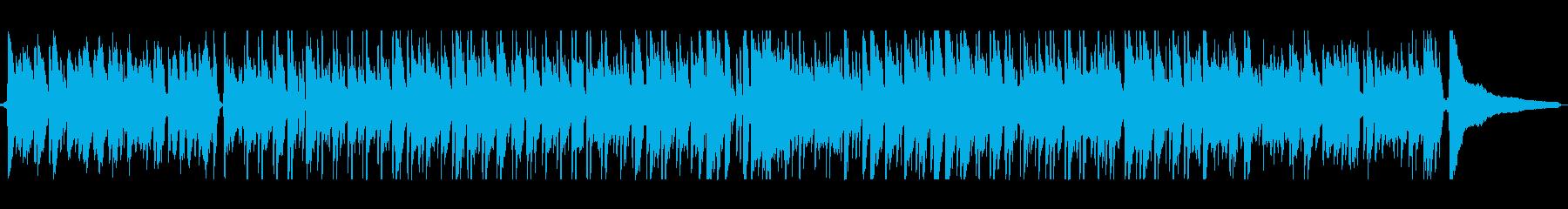ギターとピアノの軽快なボサノバの再生済みの波形