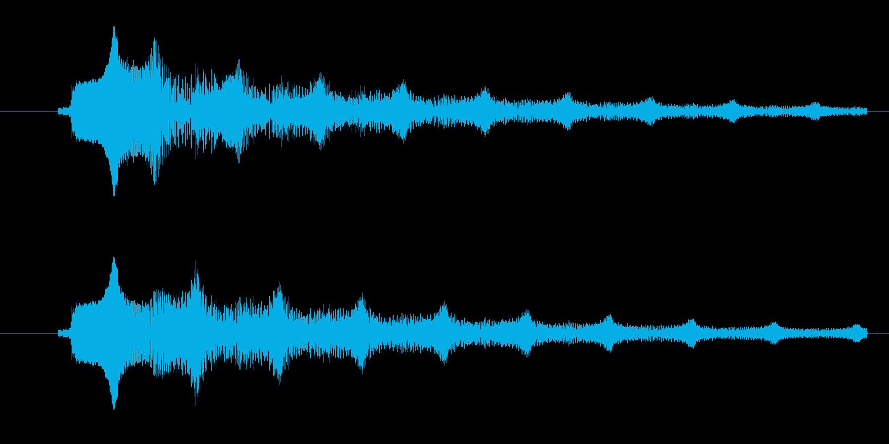 ビームを出す時のような音の再生済みの波形