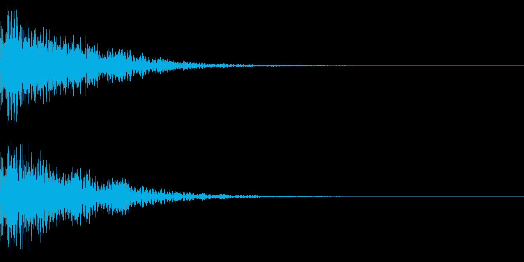決定音45_シンセBの再生済みの波形