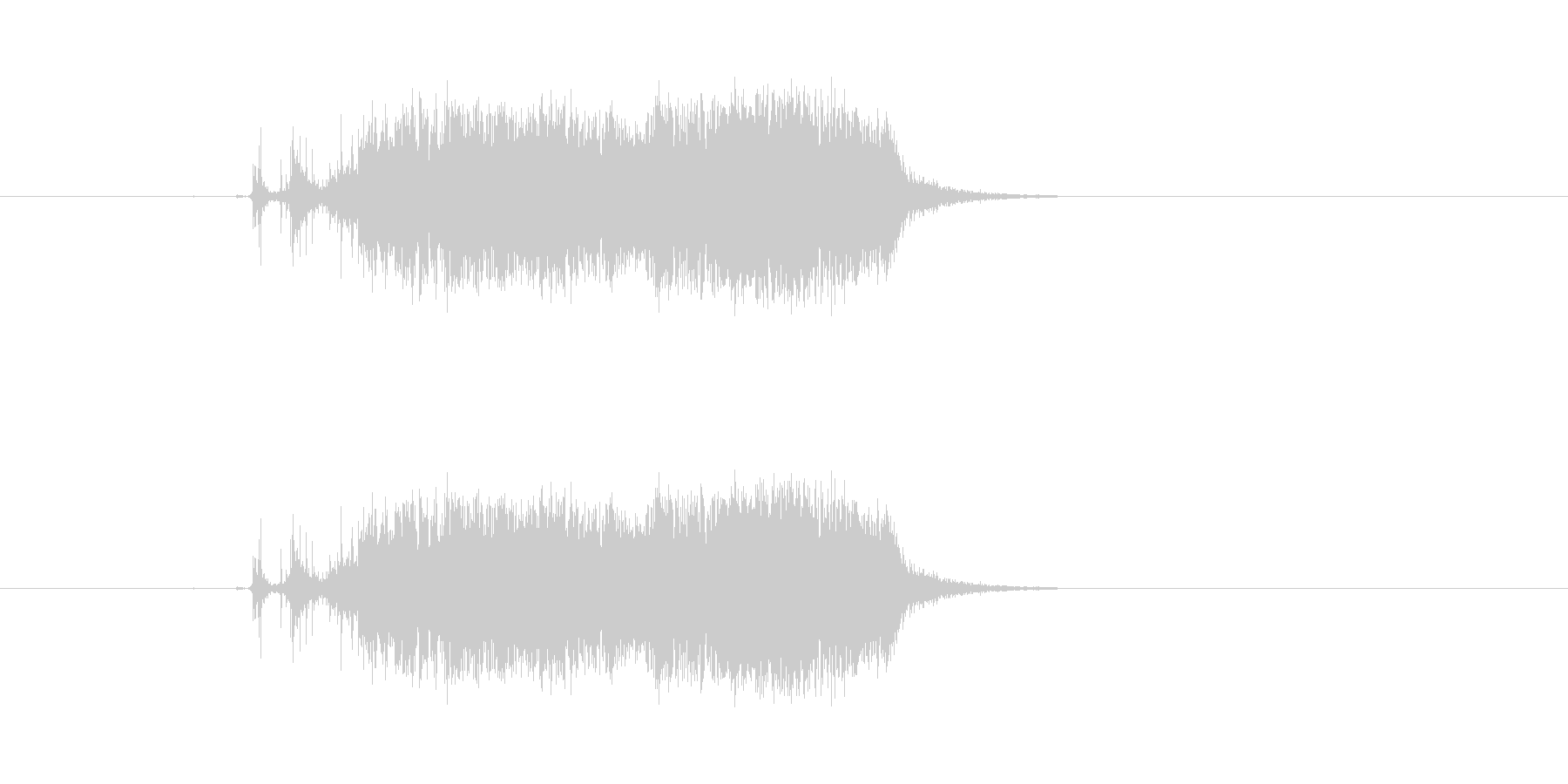 ビリ〜!紙を勢いよく破る 効果音 02の未再生の波形