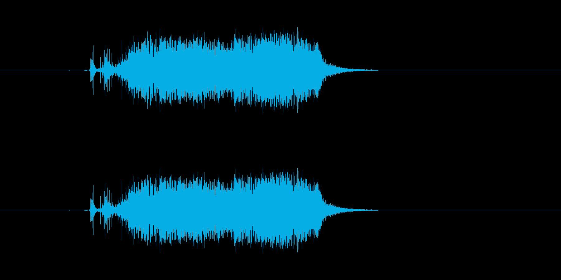 ビリ〜!紙を勢いよく破る 効果音 02の再生済みの波形