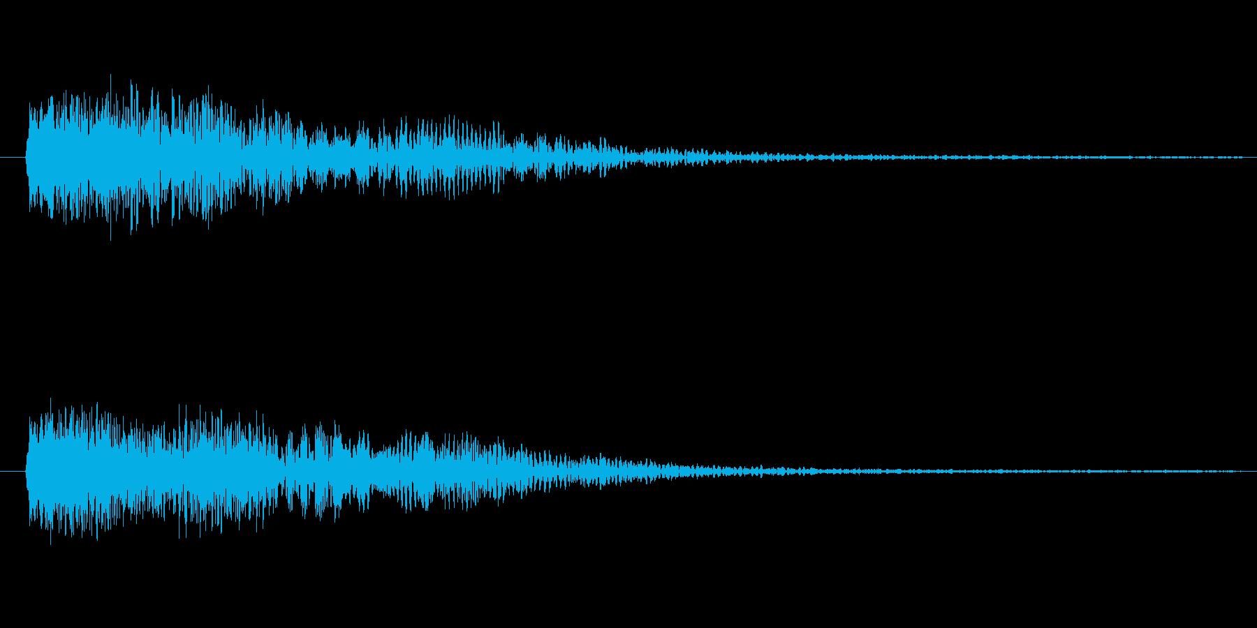 金属質な、ひゅーん(落ちる音、外した音)の再生済みの波形