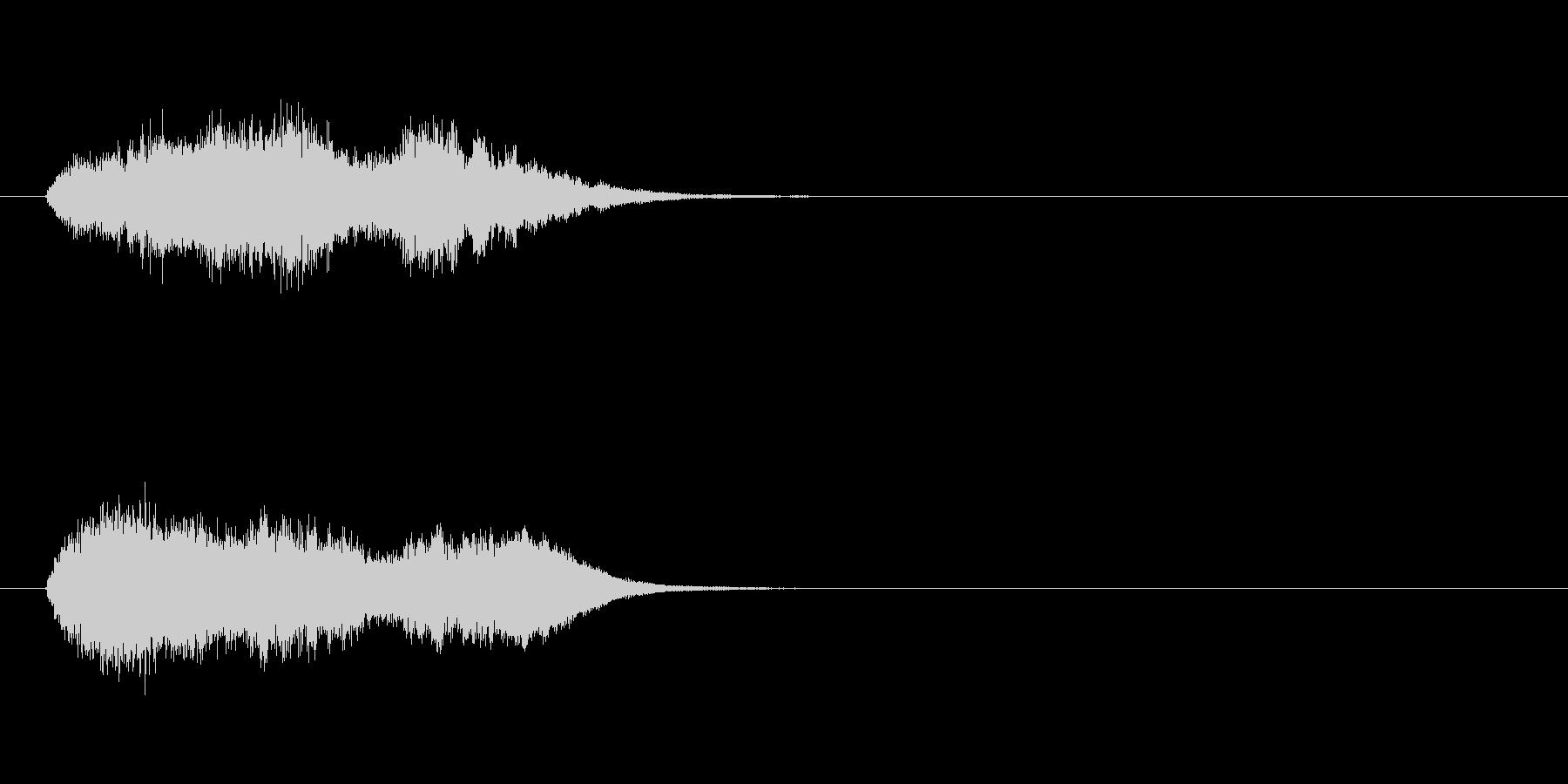 ジングル(放送終了)の未再生の波形