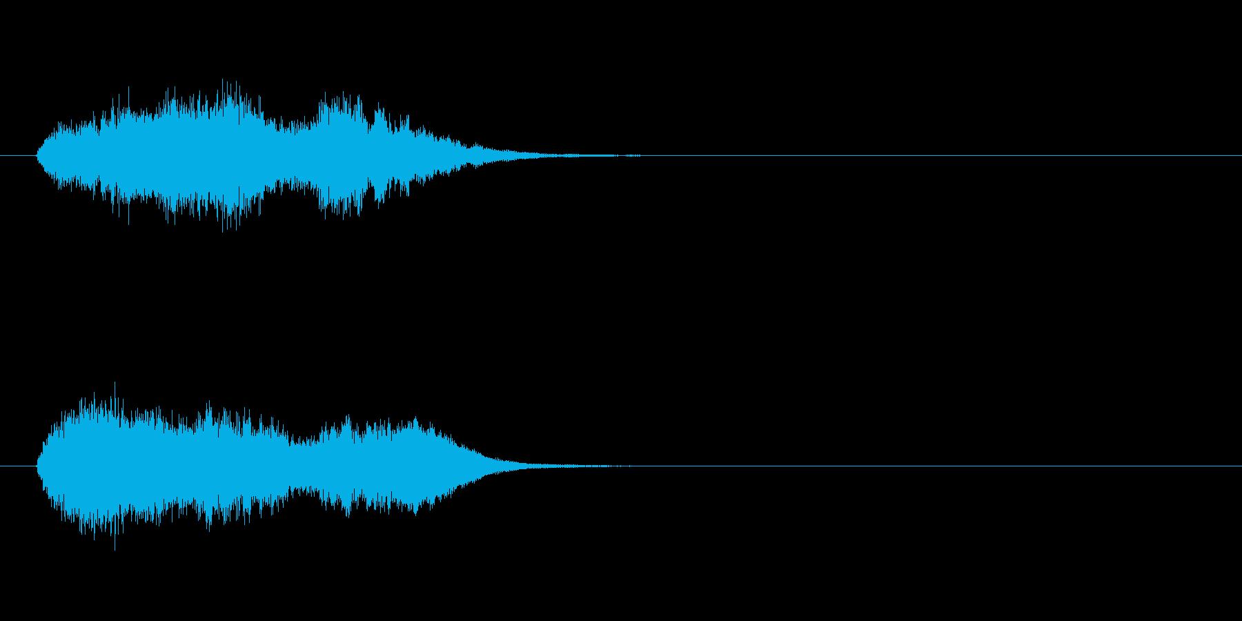 ジングル(放送終了)の再生済みの波形