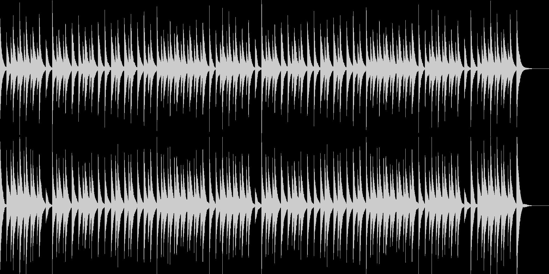 かわいいオルゴールサウンドの未再生の波形
