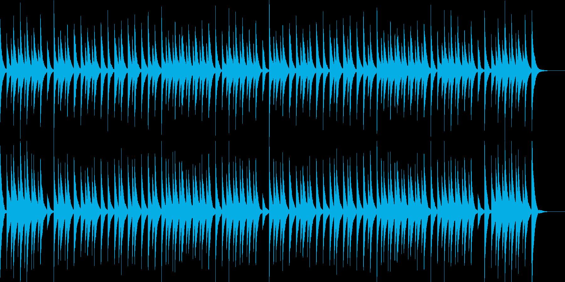 かわいいオルゴールサウンドの再生済みの波形