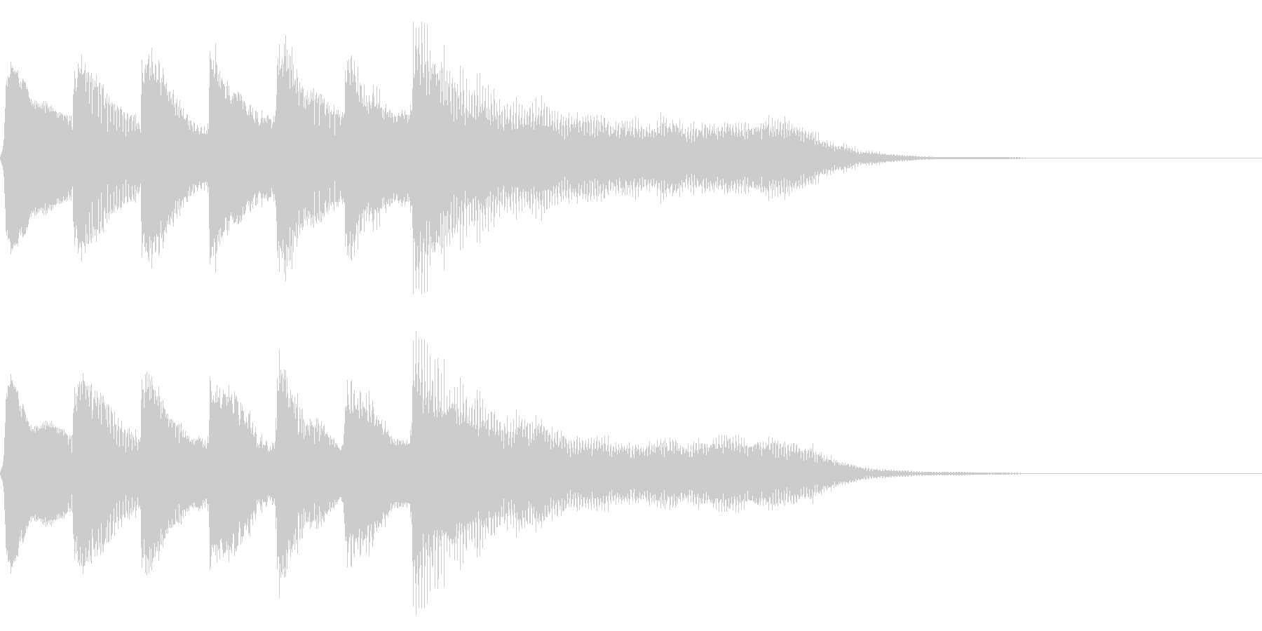 レトロなステージクリア音 達成 完成の未再生の波形