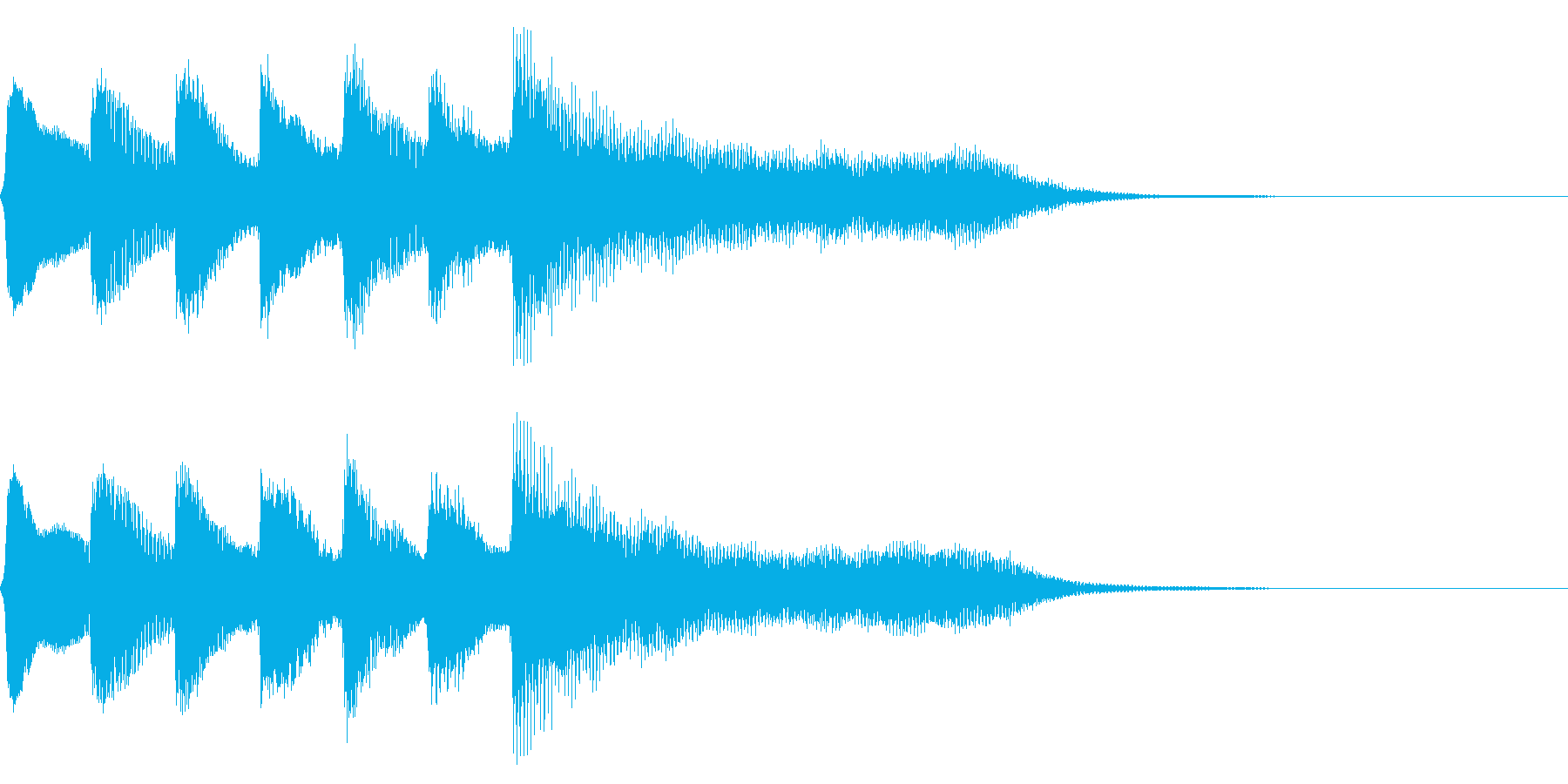 レトロなステージクリア音 達成 完成の再生済みの波形