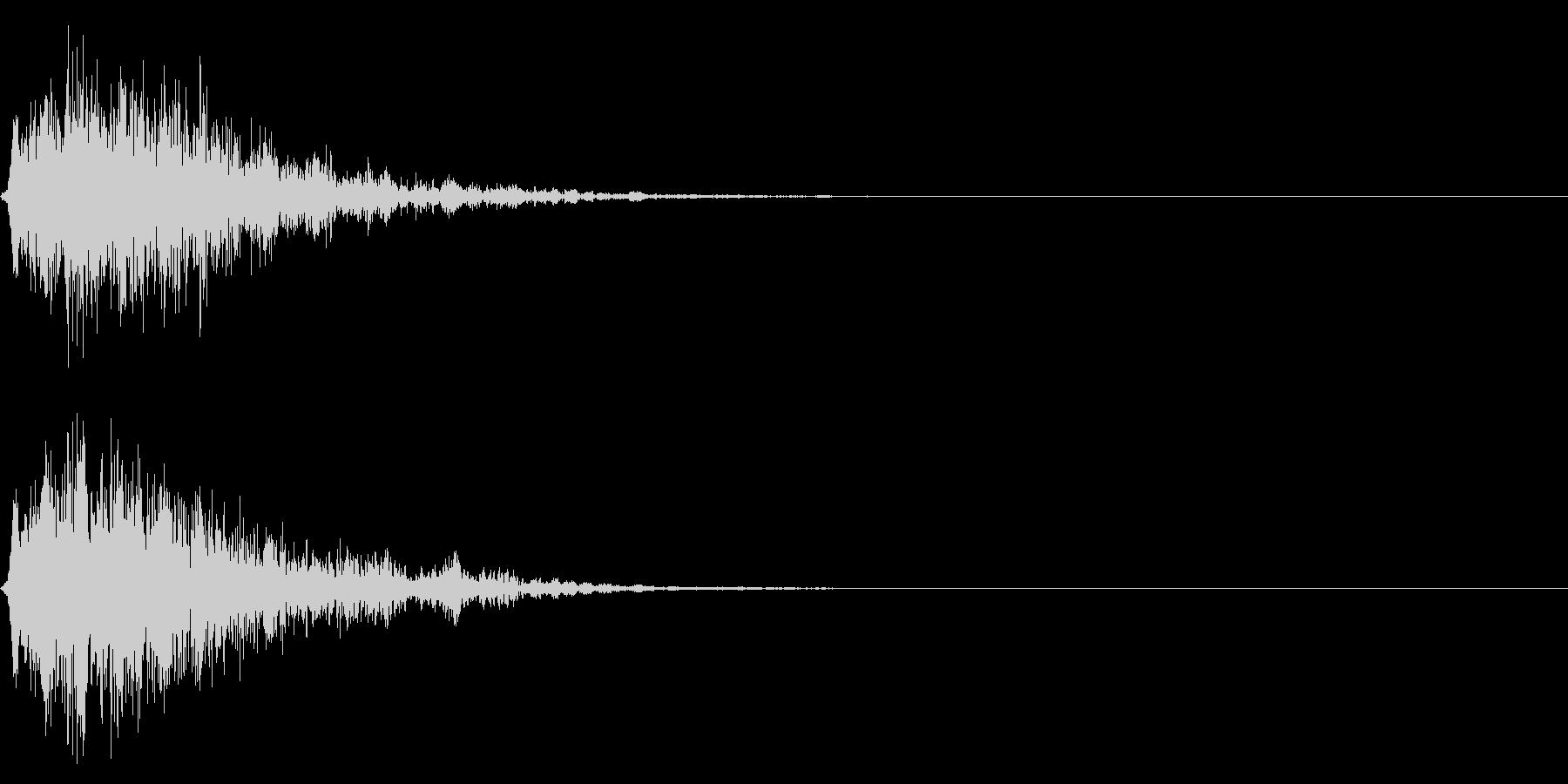シリアス系のサウンドロゴの未再生の波形