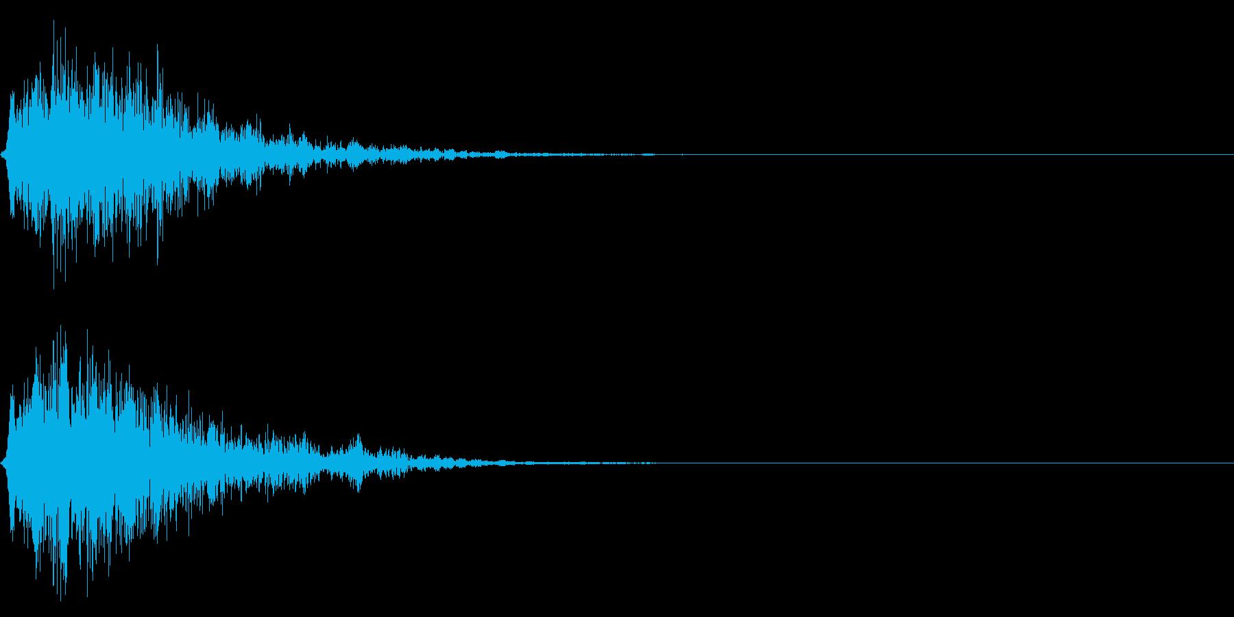 シリアス系のサウンドロゴの再生済みの波形