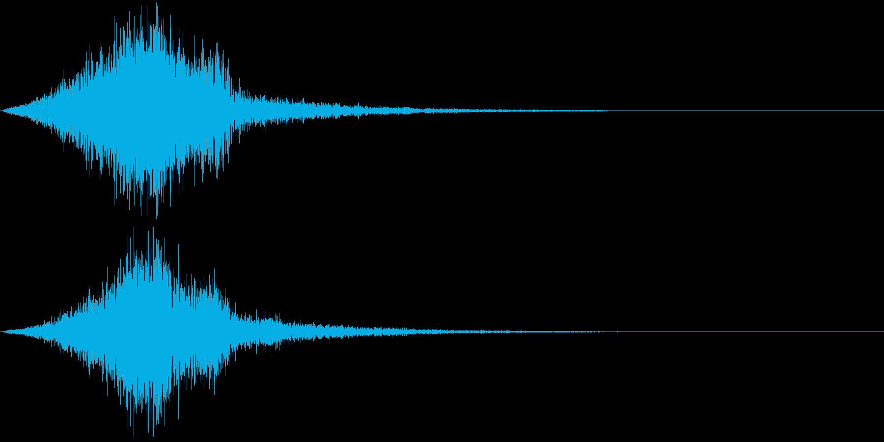 【SE 効果音】不気味な音9の再生済みの波形