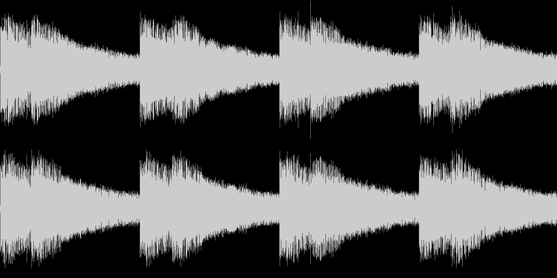 シンセ サイレン アナログ ピコピコ01の未再生の波形