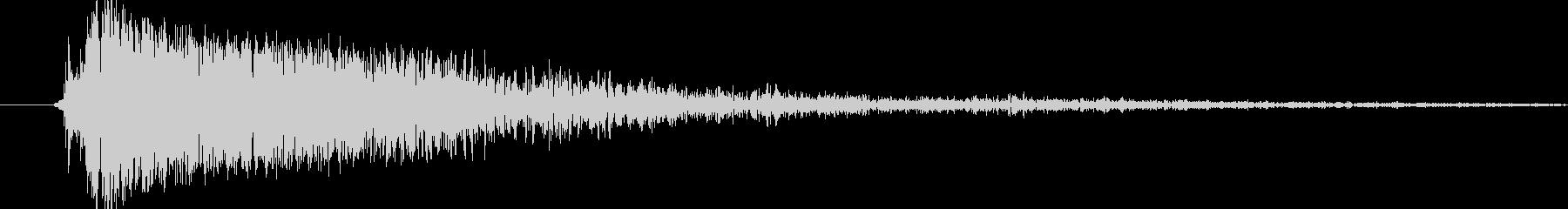シンバル(キシィー)の未再生の波形