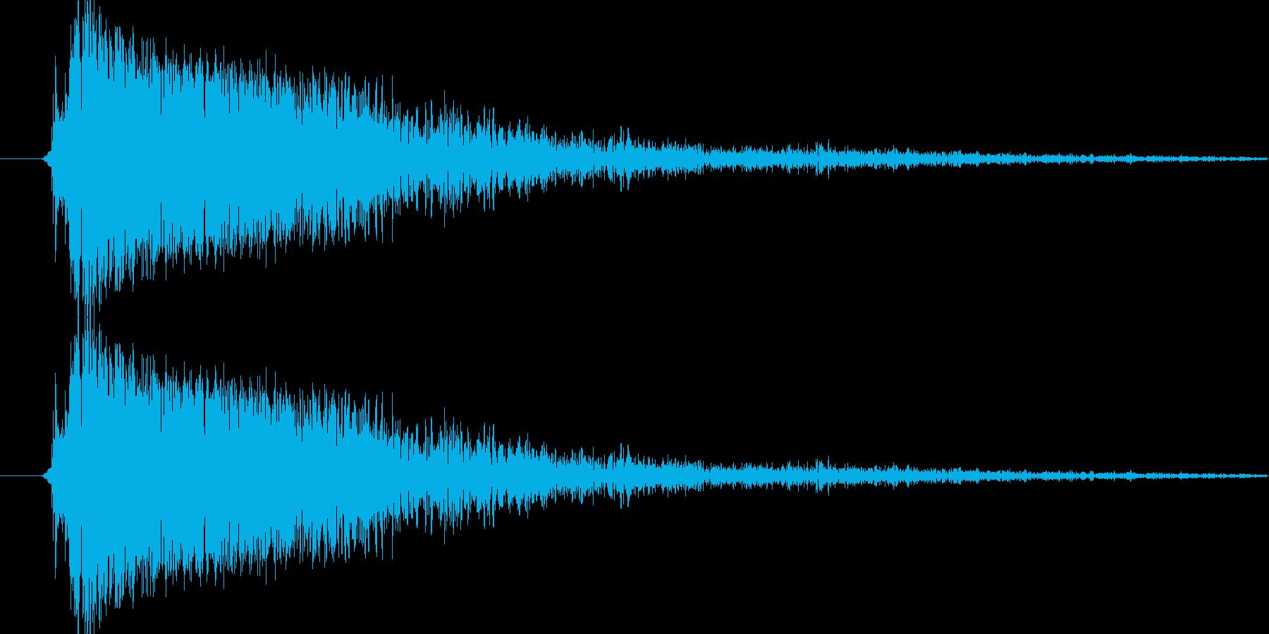 シンバル(キシィー)の再生済みの波形