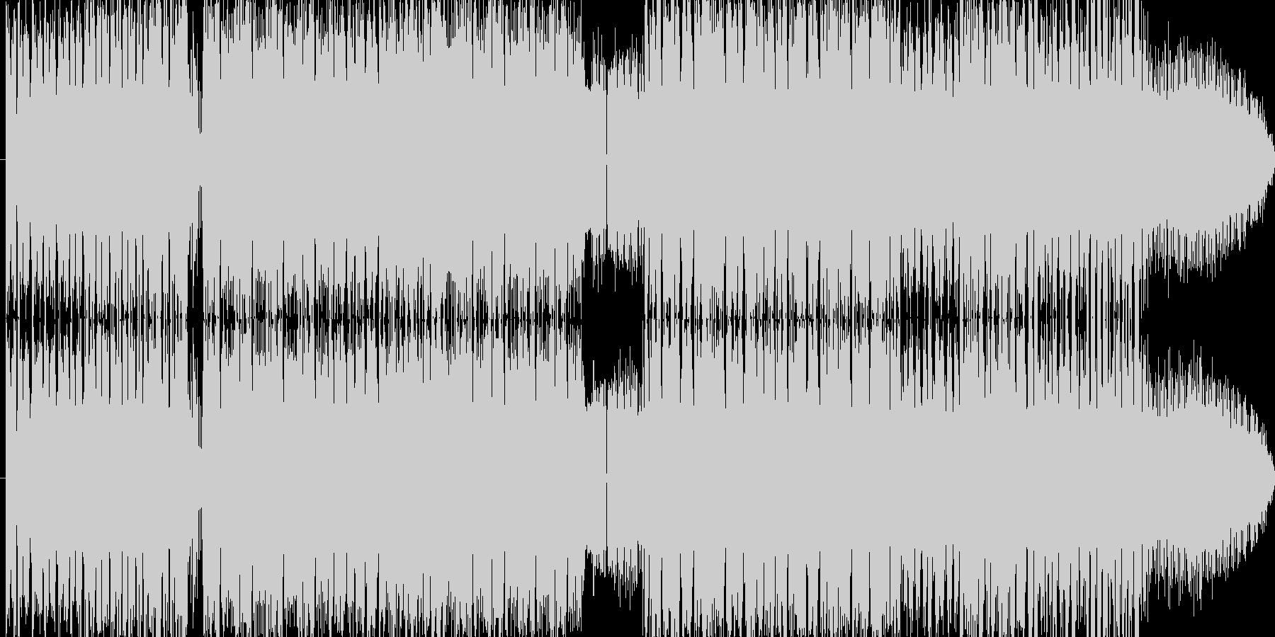 暗くて速くて幻想的な楽曲です!変拍子の未再生の波形