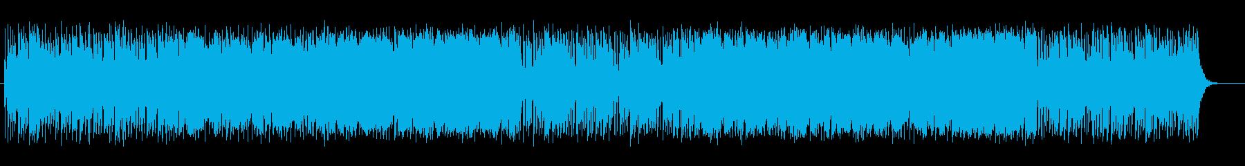 疾走感のある感動的なシンセファンクの再生済みの波形