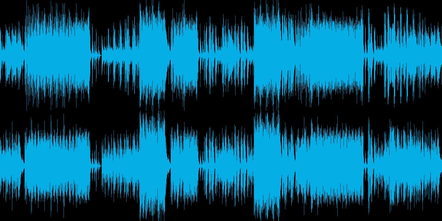 楽しいリズムサウンドの再生済みの波形