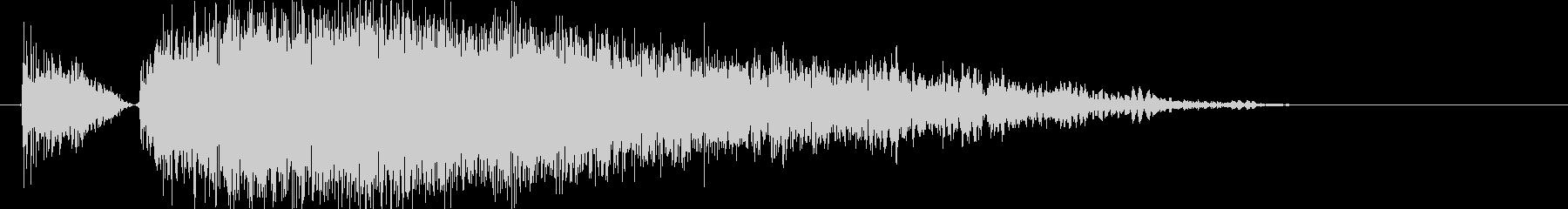 パンチやキック(大打撃、カウンター)1hの未再生の波形