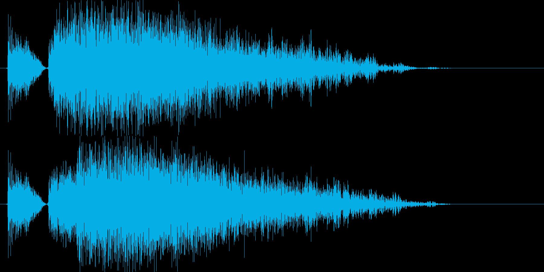 パンチやキック(大打撃、カウンター)1hの再生済みの波形