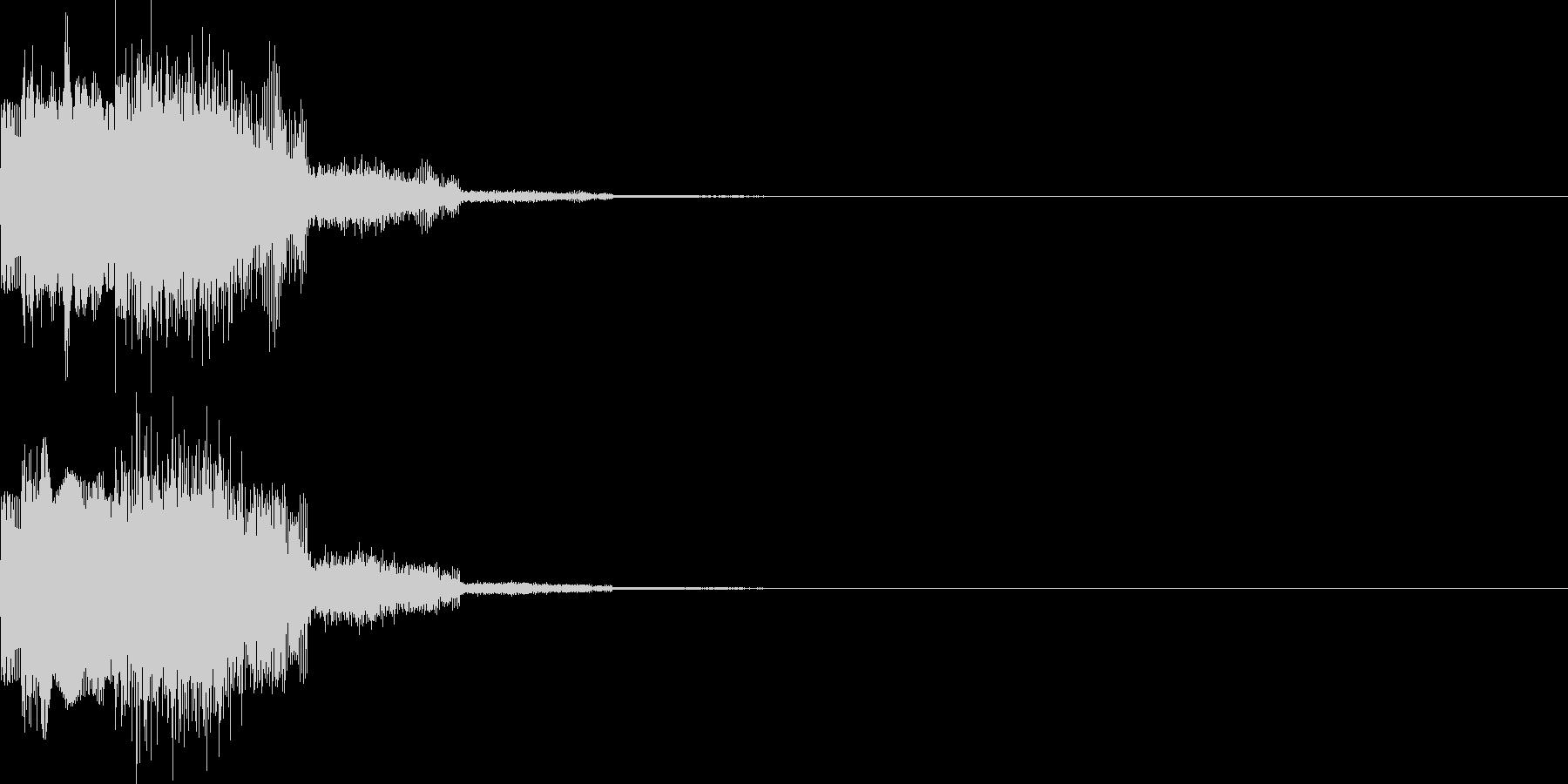 キャンセル音11(シンセ系Q)の未再生の波形