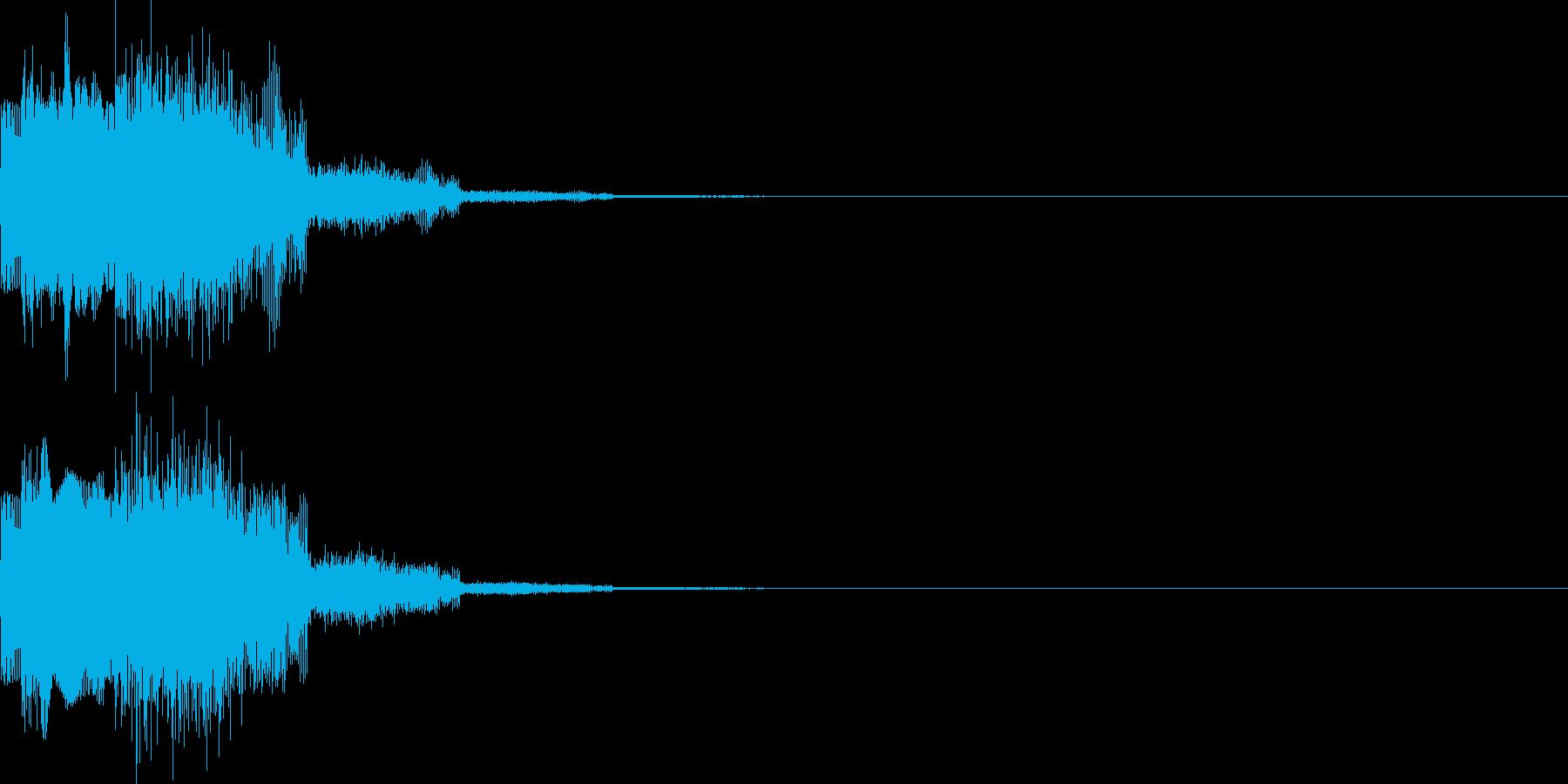 キャンセル音11(シンセ系Q)の再生済みの波形