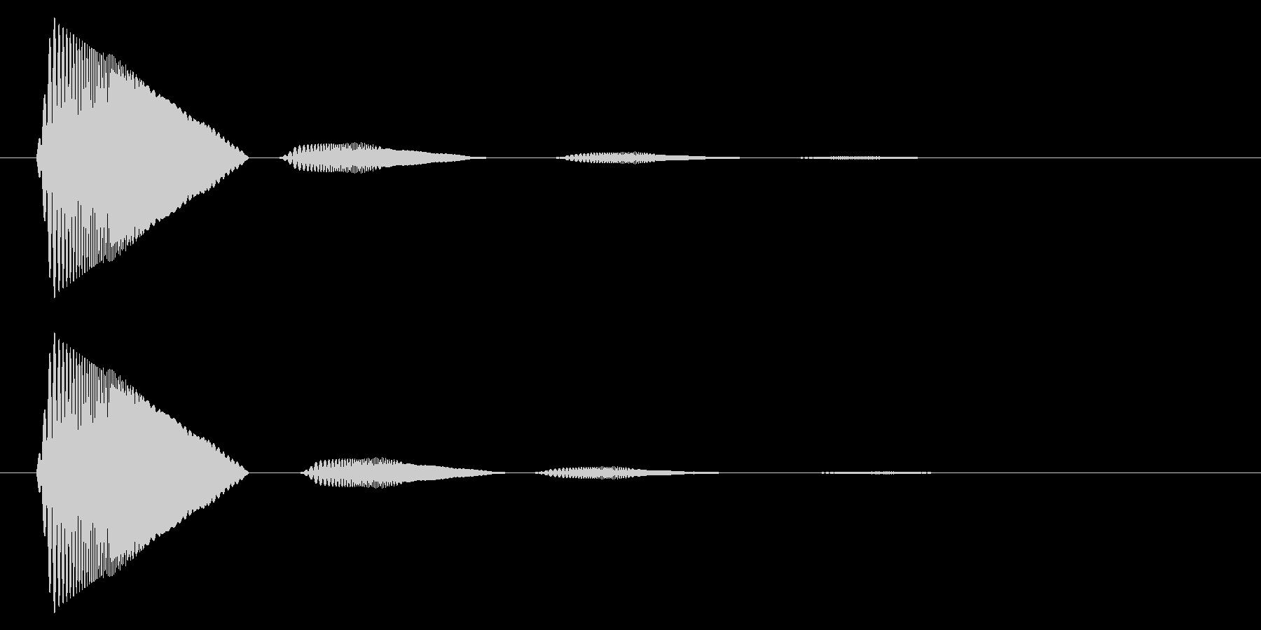 カーソル移動音10の未再生の波形
