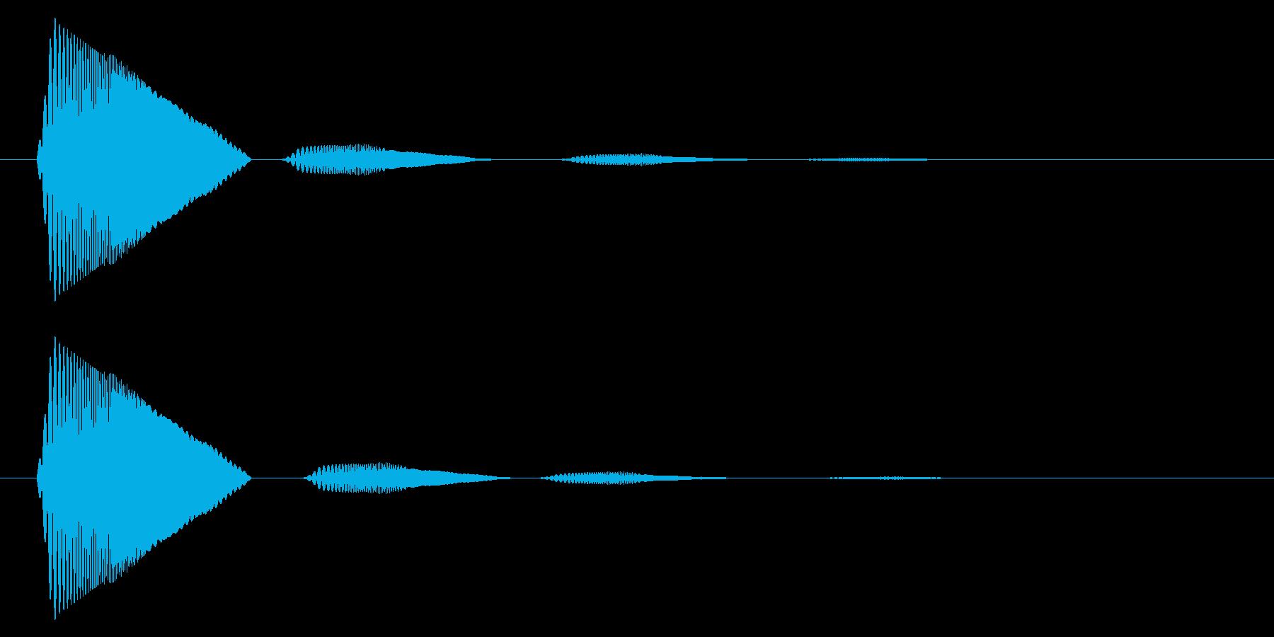 カーソル移動音10の再生済みの波形