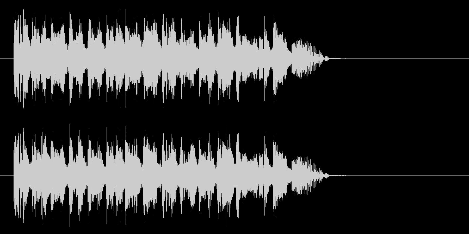 疾走感のあるコミカル音楽の未再生の波形