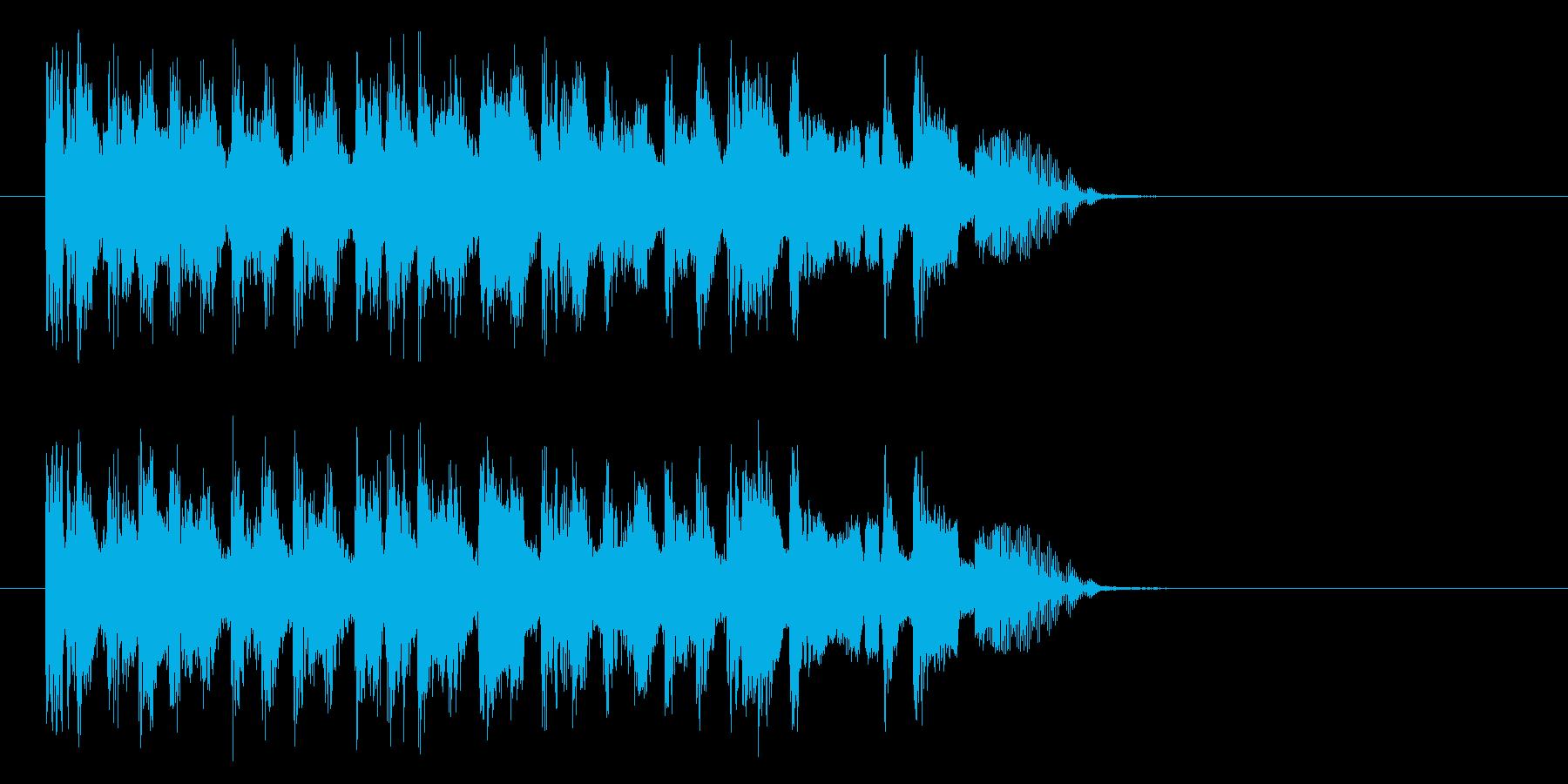 疾走感のあるコミカル音楽の再生済みの波形
