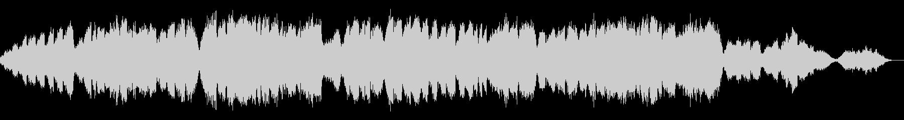 終わりから新しい始まりに バロック風弦楽の未再生の波形