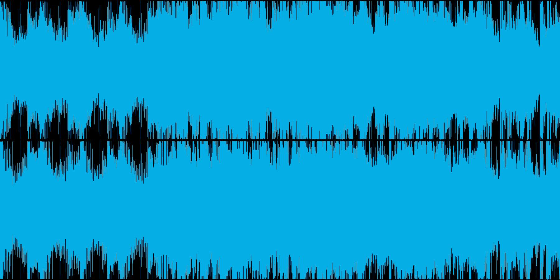 緊迫感のある闇を感じさせる楽曲ループの再生済みの波形