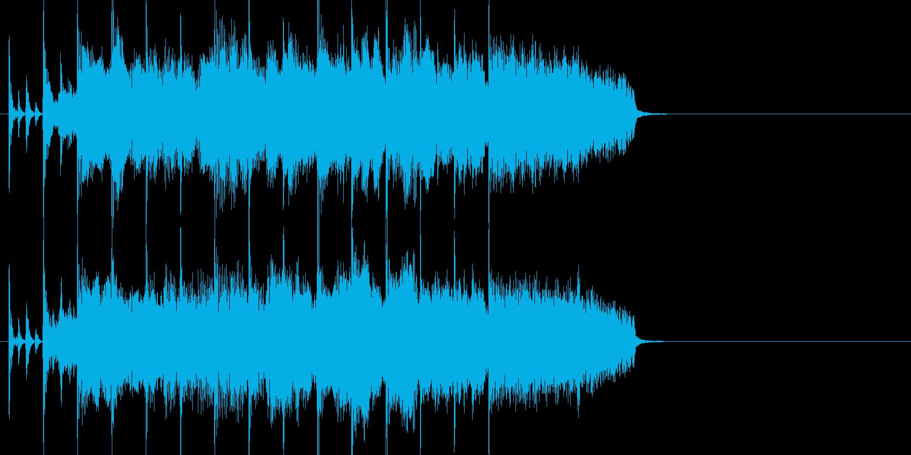 オーケストラ楽器が壮大な感動系ジングルの再生済みの波形