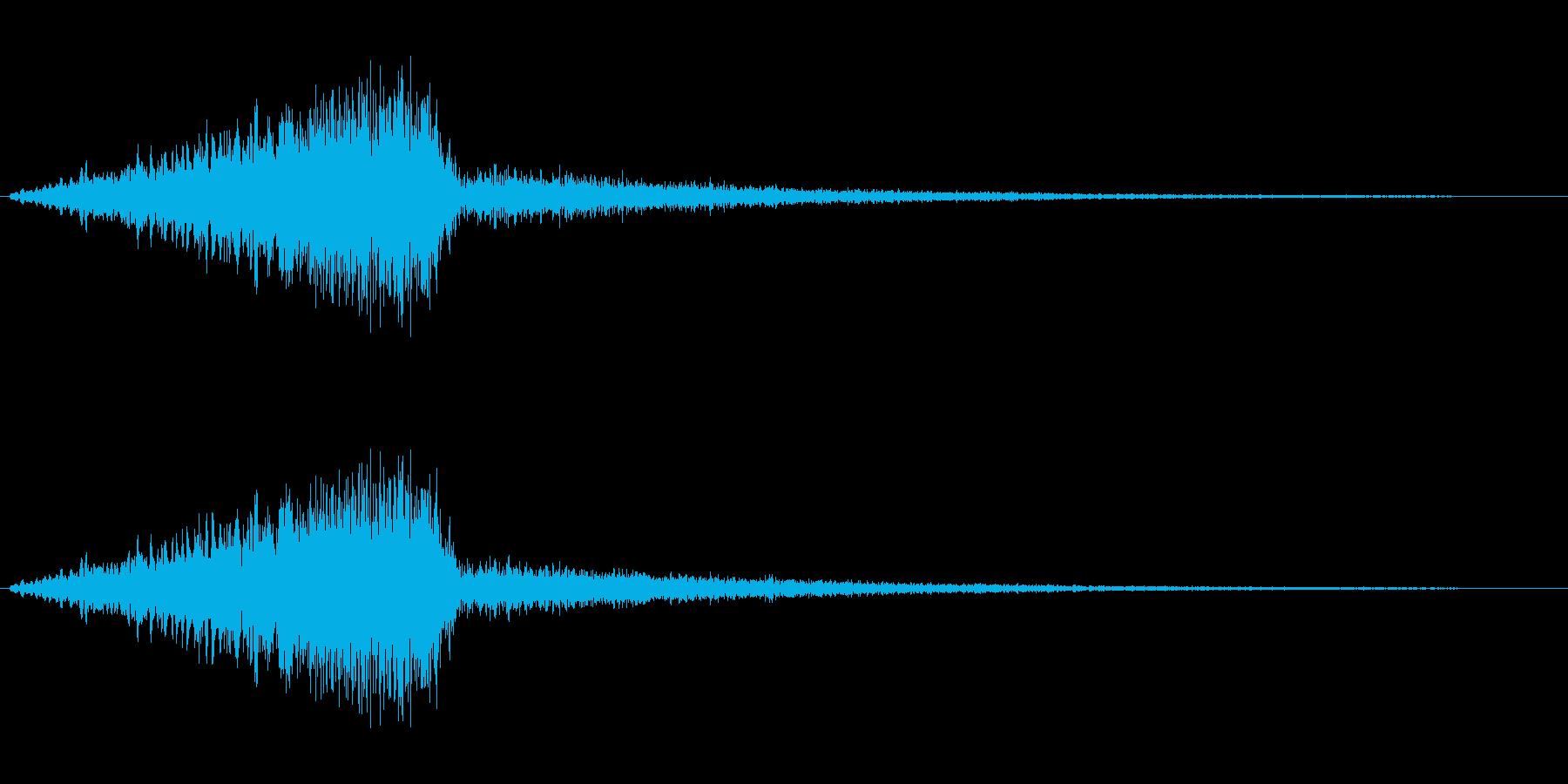 シャイニングスターの降る音の再生済みの波形