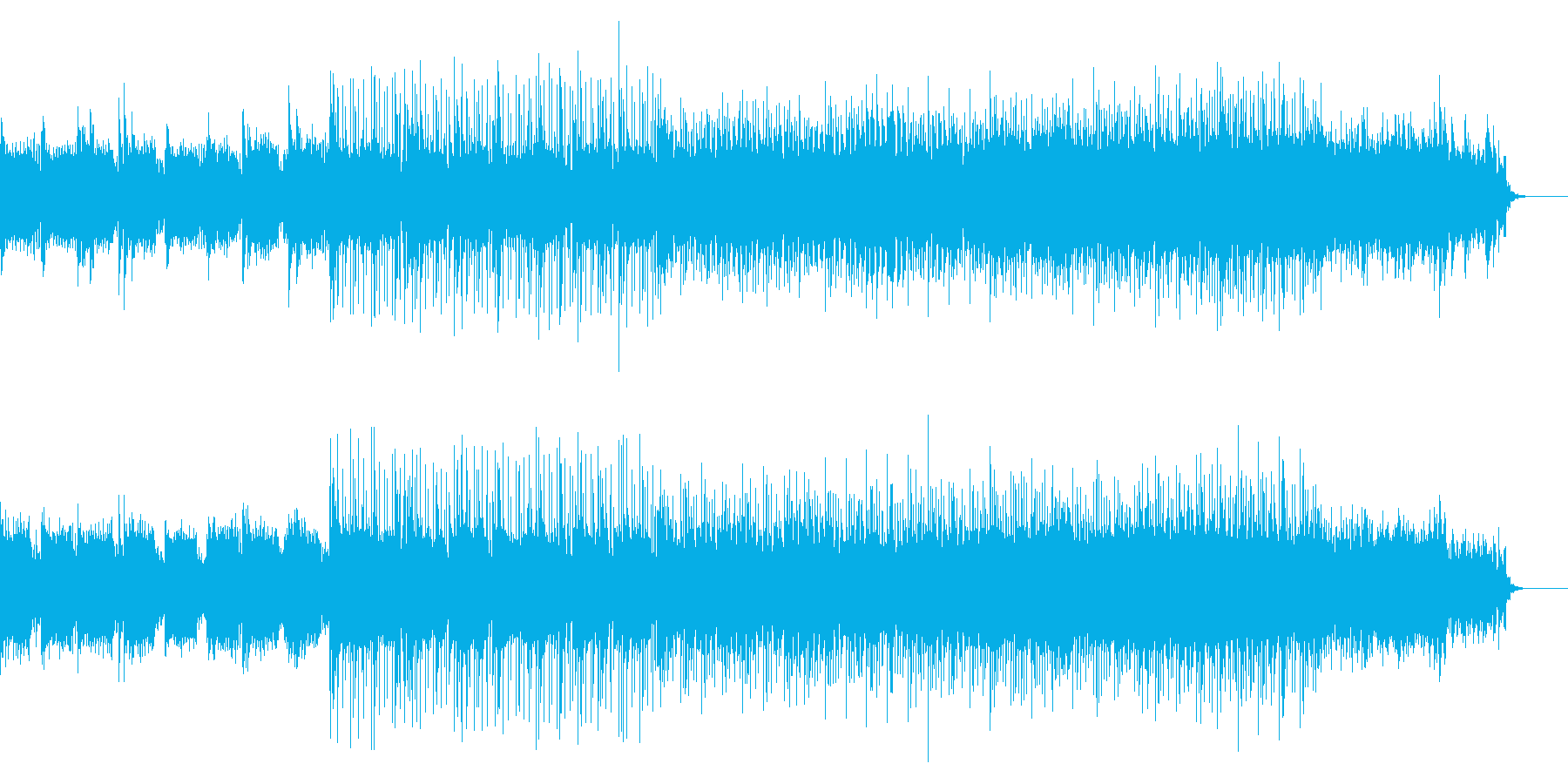 洋風なフィールド曲の再生済みの波形