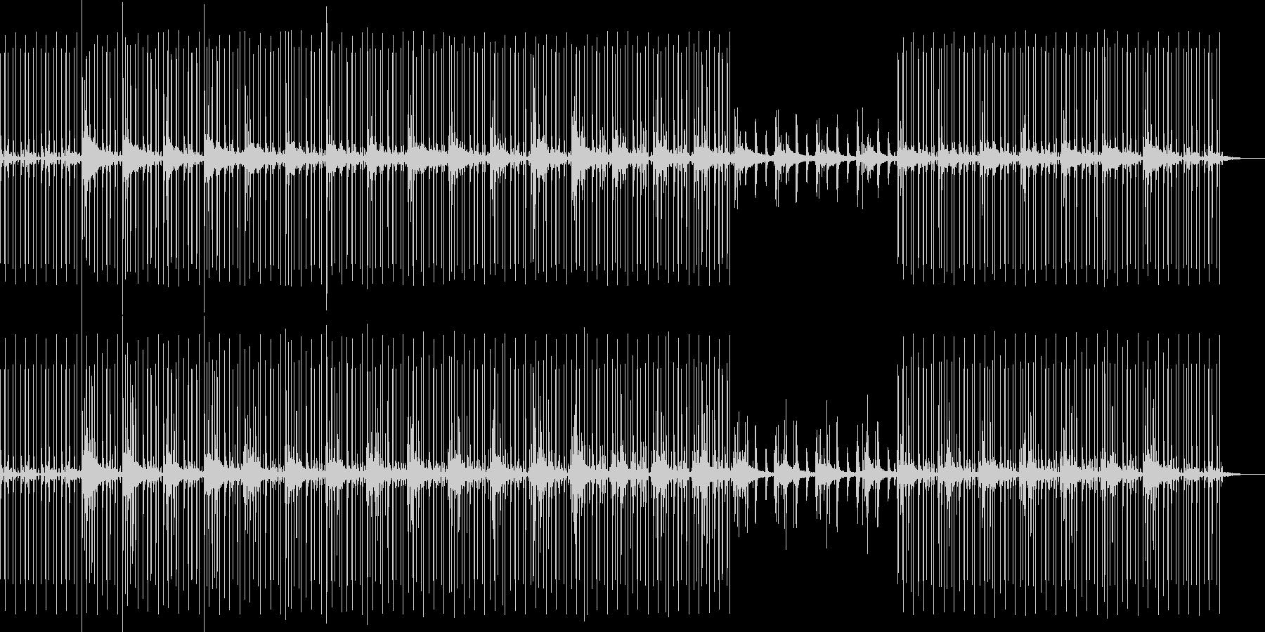 風吹く鉄の歌Breaks dubstepの未再生の波形