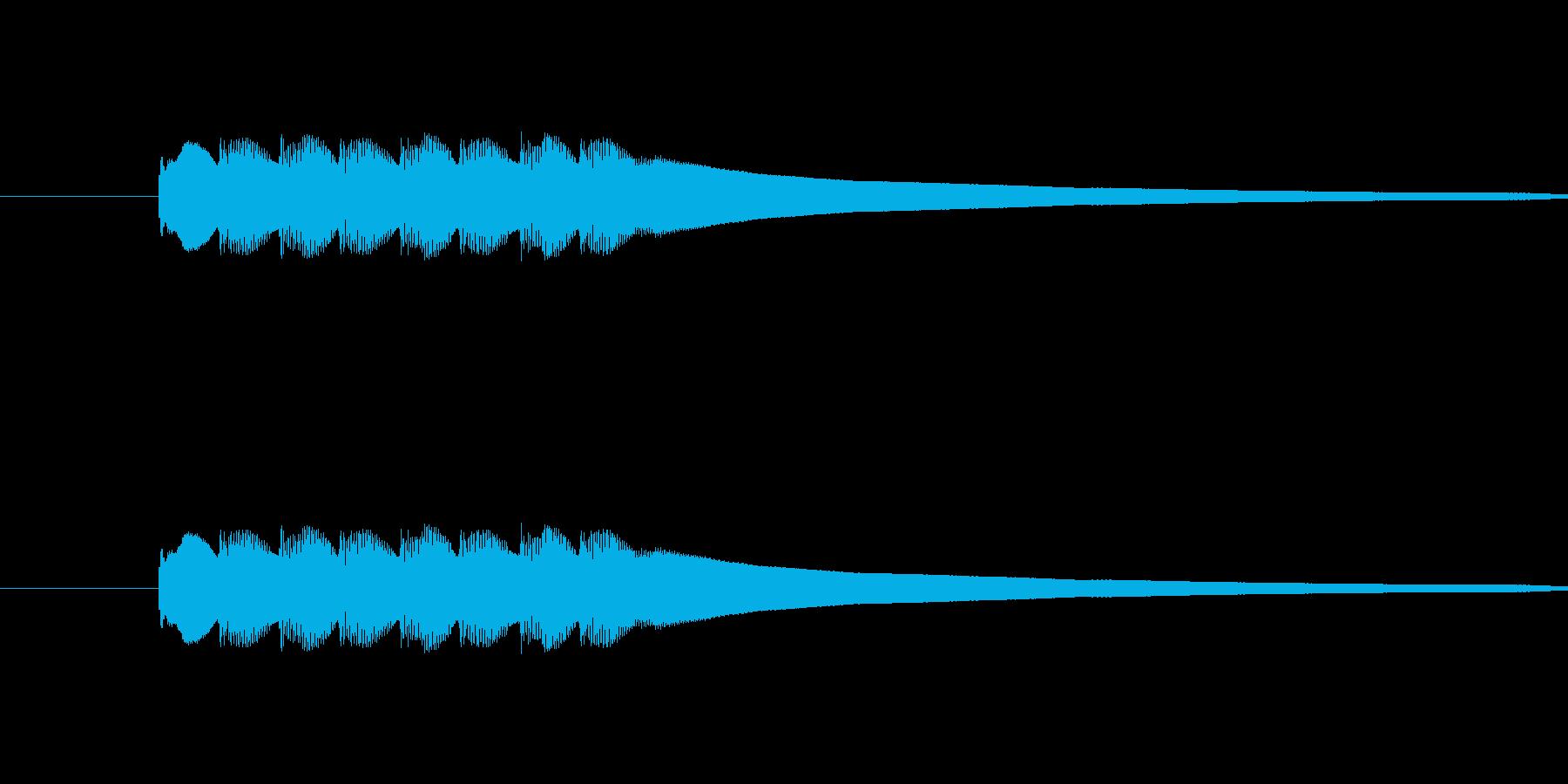 ピンポンピンポンピンポンピンポンという音の再生済みの波形